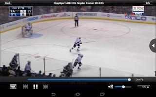 Screenshot of HyppTV Everywhere (tablet)