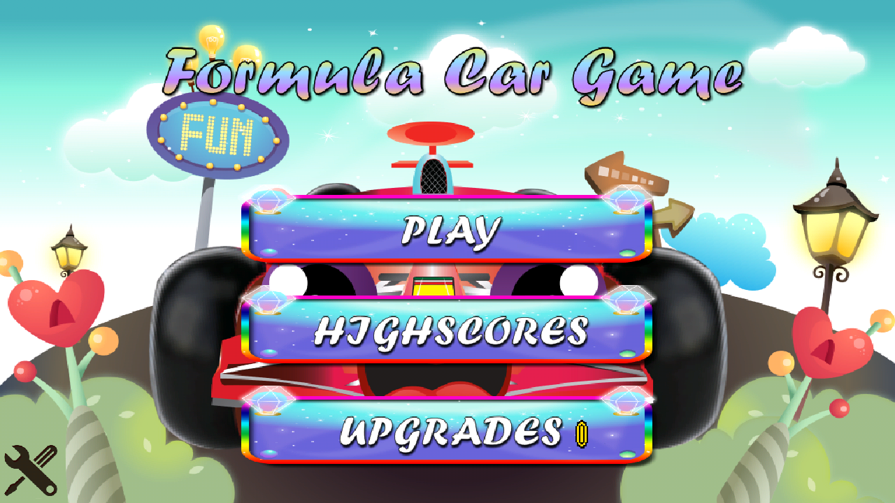 Android Formula Car Game - screenshot