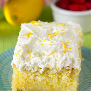 Drenched Lemon Cream Cake Recipe