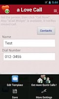 Screenshot of a Love Call - Simple Contacts
