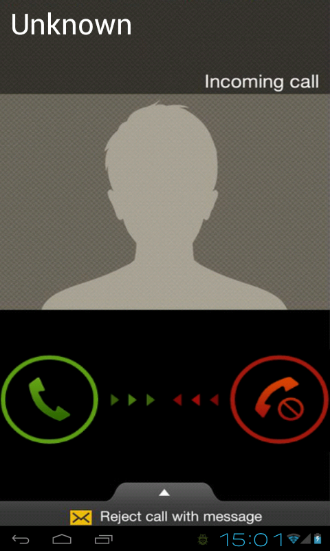 Fake Incoming Call - screenshot