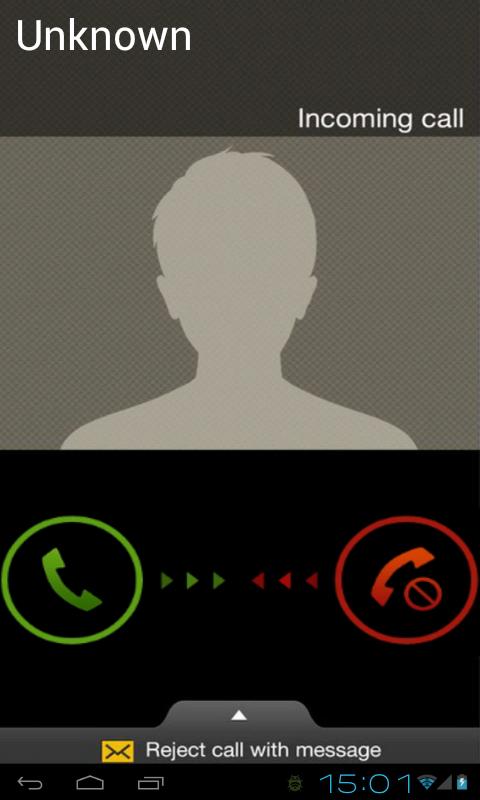 Fake Incoming Call - screenshot