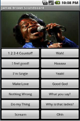 James Brown Soundboard - screenshot