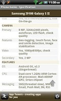 Screenshot of Phone Genie - GSMArena Browser