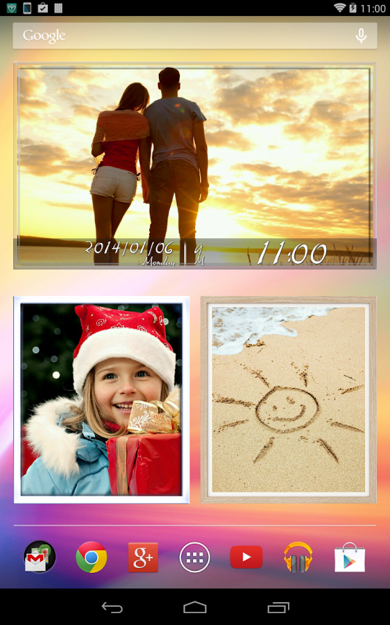 Animated Photo Frame Widget +- screenshot