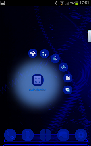 Next Launcher Total Blue Theme