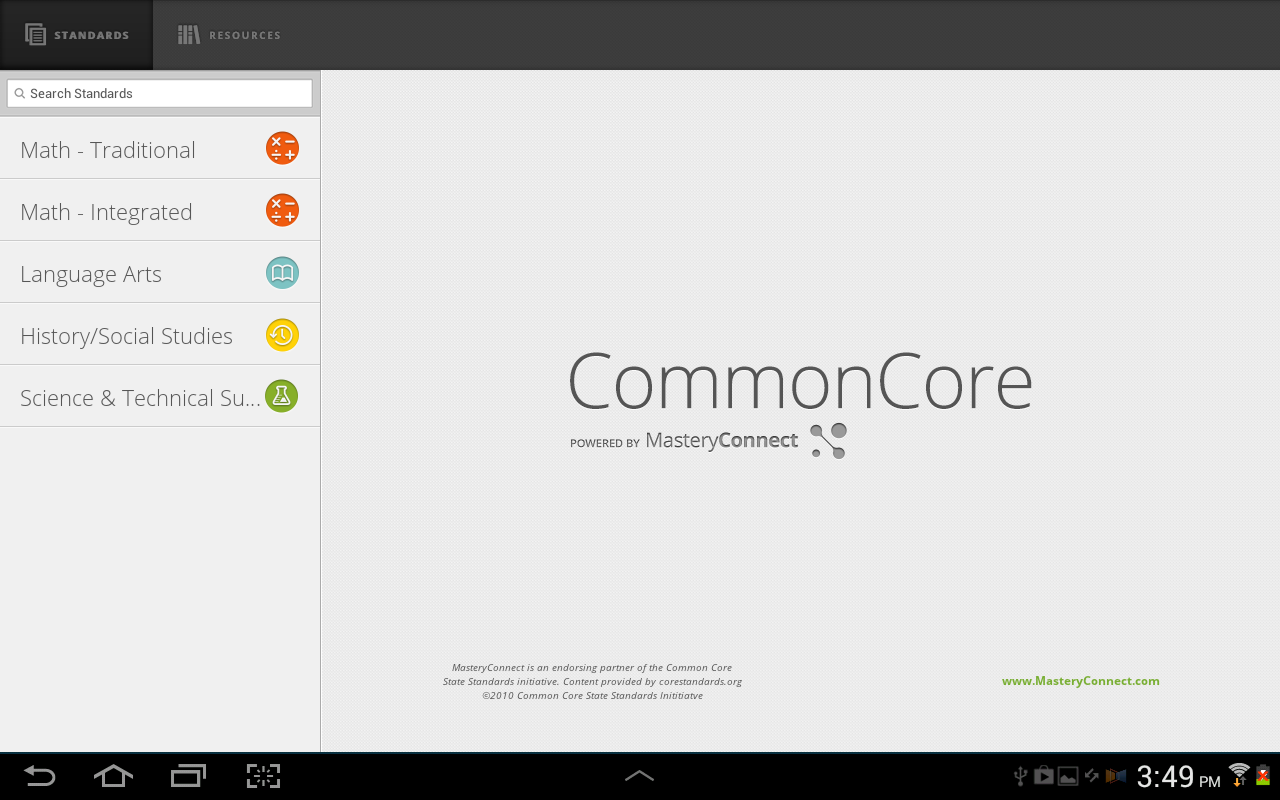 Common Core - screenshot