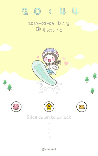 Snowboard go locker theme