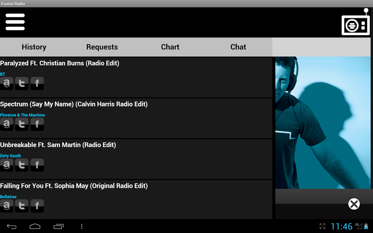 Fusion Radio - screenshot