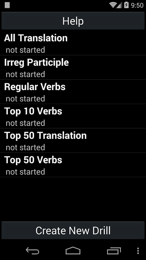 French Verb Trainer - screenshot