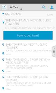 Shenton Clinic Locator screenshot