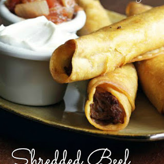 Shredded Beef Taquitos
