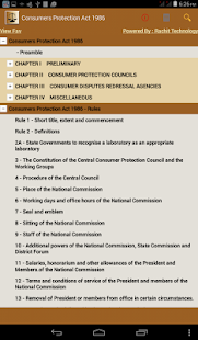 Consumer Protection Act 1986- screenshot thumbnail