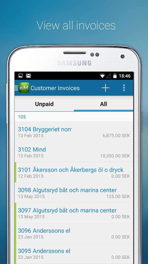 Visma eAccounting - screenshot