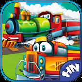 Kids games. Trains 2