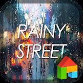 Rainy street dodol theme