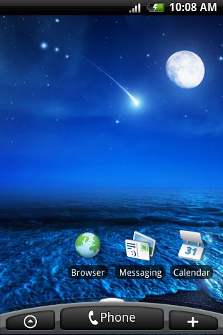 Meteor Slide Live Wallpaper - screenshot