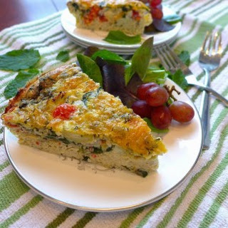 Greek Frittata (Gluten free and Vegetarian)