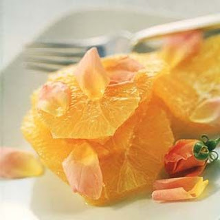 Orange Slices in Rose Flower Water