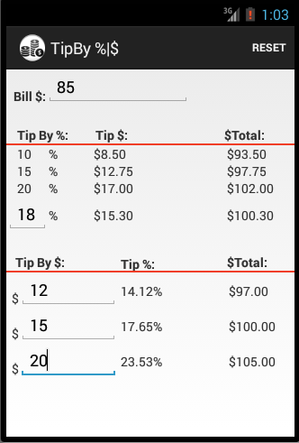 Tip Calculator By $