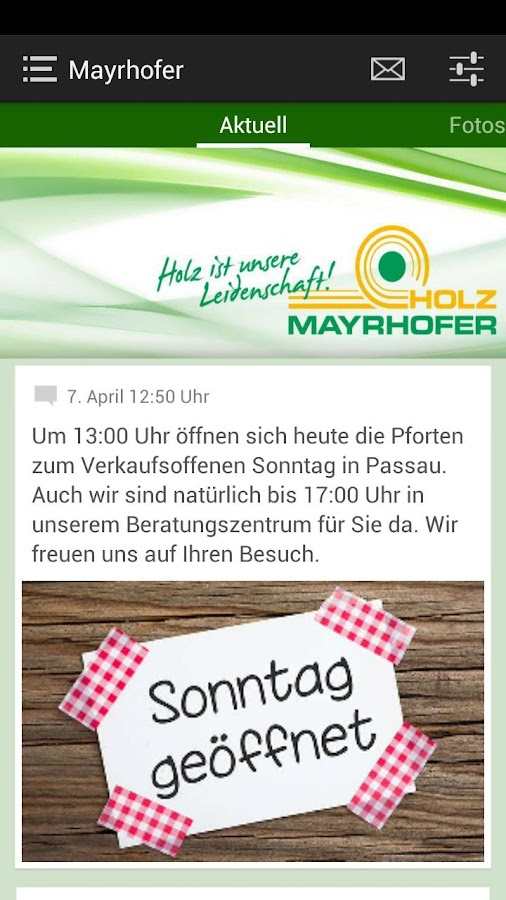 Holz Mayrhofer GmbH- screenshot