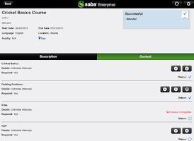 Screenshot of Saba Enterprise for Good