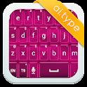 A.I.type theme pink neon א icon
