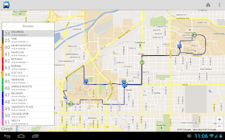 Screenshot of StarTran Bus Tracker