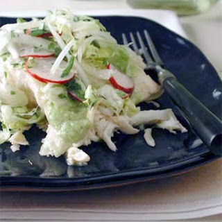 Green Enchiladas with Crab.