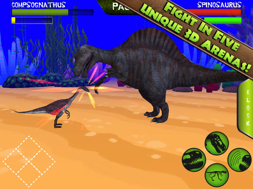 dinosaur fight games