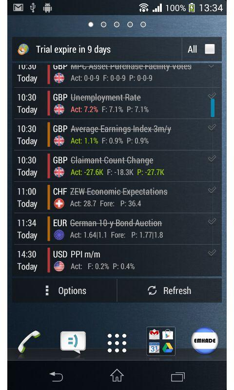 Forex Calendar Notifier PRO 4 - screenshot