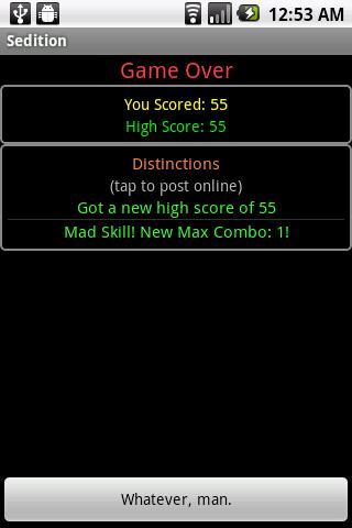 Sedition- screenshot