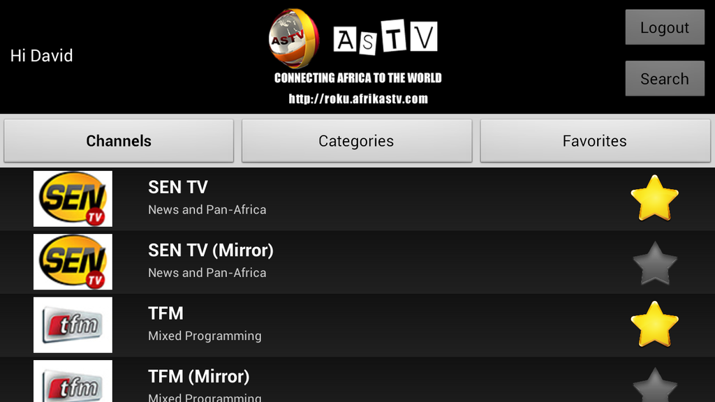AfrikaSTV - ASTV- screenshot