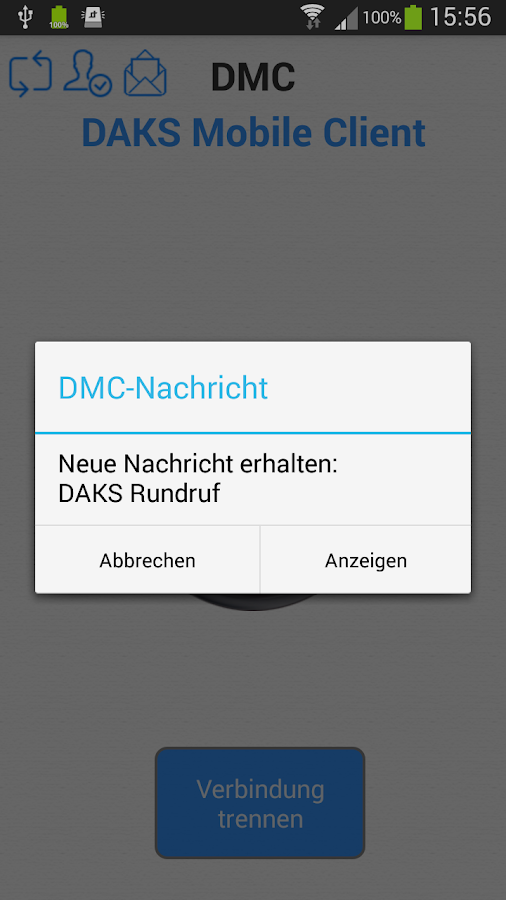 DMC - DAKS Mobile Client – Screenshot