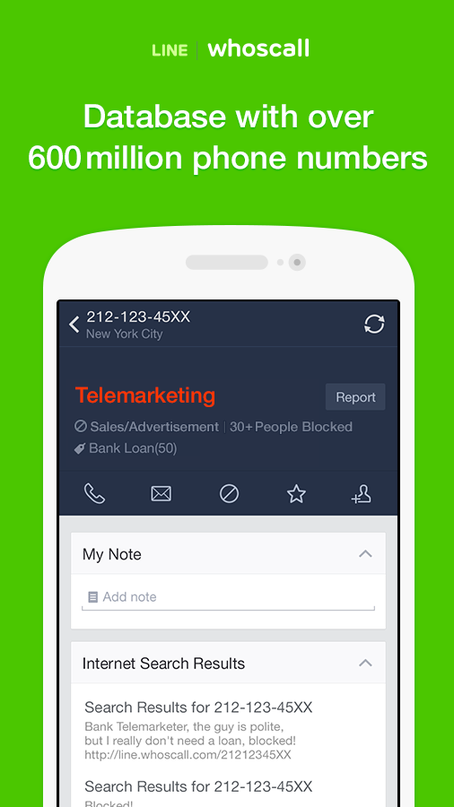 LINE whoscall- Caller ID&Block - screenshot