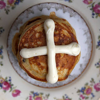 Hot Cross Pancakes.
