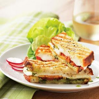Herb Pesto and Mozzarella Panini