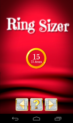 Ring sizer know your ring size - screenshot