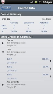 MyGPA Lite - GPA Calculator - screenshot thumbnail