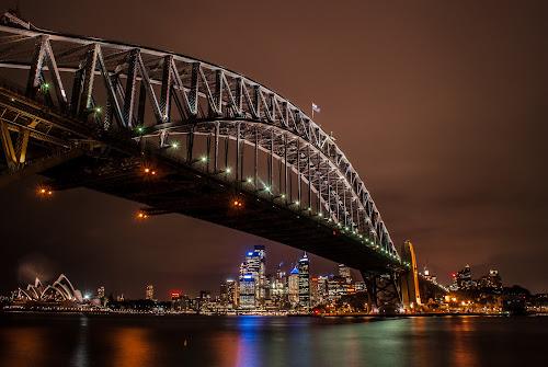 Sydney Harbour Bridge by Sebastièn Petri - Buildings & Architecture Bridges & Suspended Structures ( australia, harbour, night, bridge, sydney )