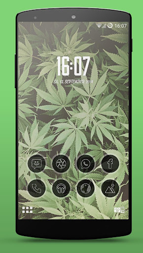 Kush Weed Smart Launcher Theme
