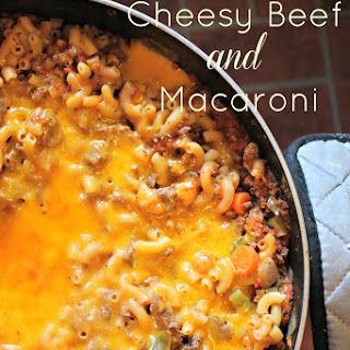 One Skillet Cheesy Beef and Macaroni