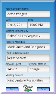 Business Meal Tracker - screenshot thumbnail
