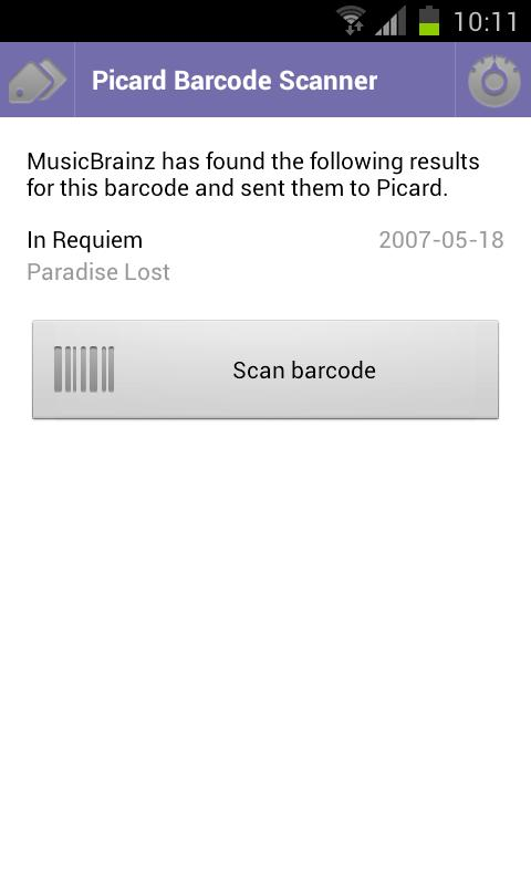 Picard Barcode Scanner - screenshot