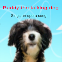 talking dog sings opera song logo
