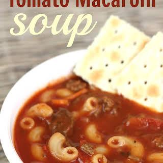 Hamburger Tomato Macaroni Soup Recipes.