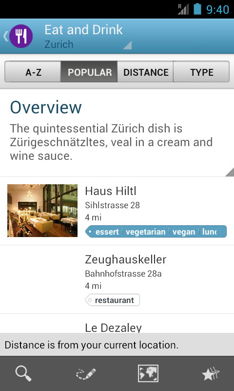 Zurich Travel Guide by Triposo - screenshot