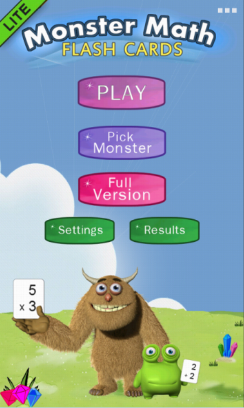 Monster Math Flash Cards Lite- screenshot