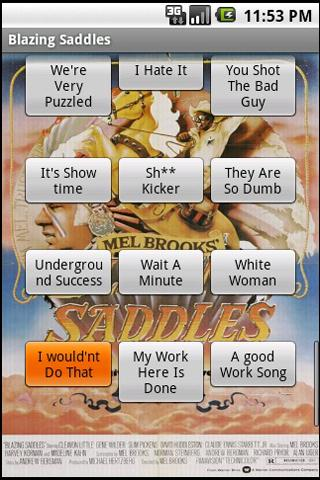Blazing Saddles Soundboard - screenshot