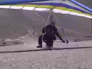 The Point of the Mountain hang gliding